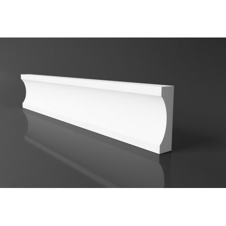 Listwa elewacyjna DLE35 styropianowa, nowoczesna, prosta listwa elewacyjna, profil styropianowy, producent sztukaterii, sztukate